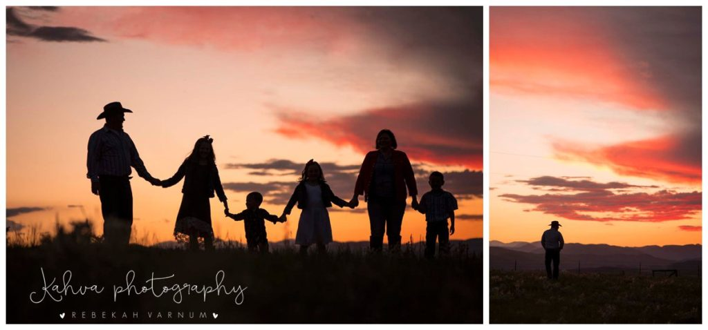 Bringhurst Family at Sunset